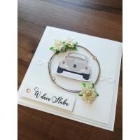 Kartka na ślub Samochodzik