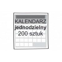 Kalendarz jednodzielny 200...
