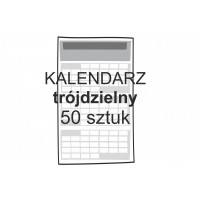 Kalendarz trójdzielny 50 sztuk