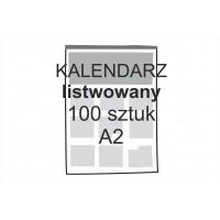 Kalendarz listwowany A2 100...